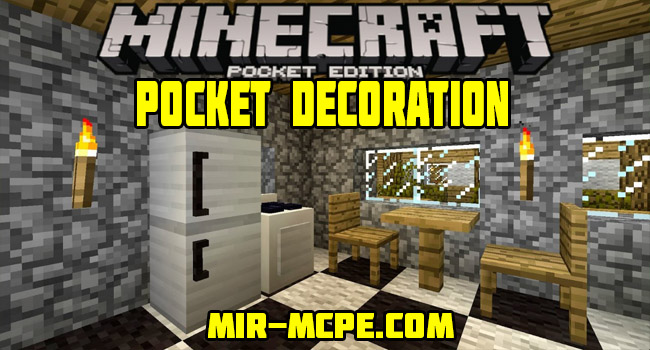 Pocket Decoration - мод на мебель 1.2, 1.1.5