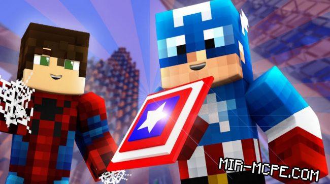 Captain America - мод на капитана Америку 1.12, 1.11, 1.10, 1.7, 1.2, 1.1.5