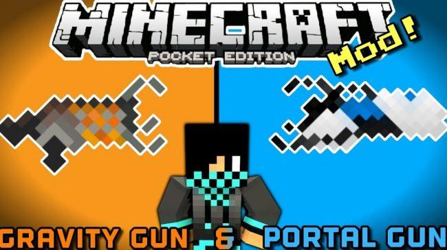 Portal Gun - мод на портальную пушку 1.12, 1.11, 1.10, 1.7, 1.2, 1.1.5