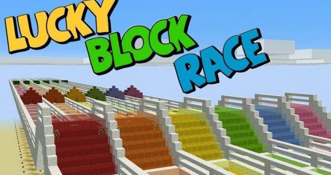 Lucky Blocks Race - карта Лаки Блоки Гонка 1.12, 1.11, 1.10, 1.7