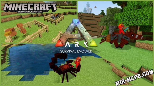 Arkcraft - мобы из Ark Survival 1.16, 1.15, 1.14, 1.13